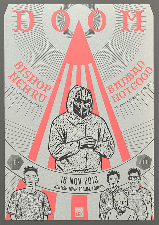 poster design for doom, bishop nehru, badbadnotgood.